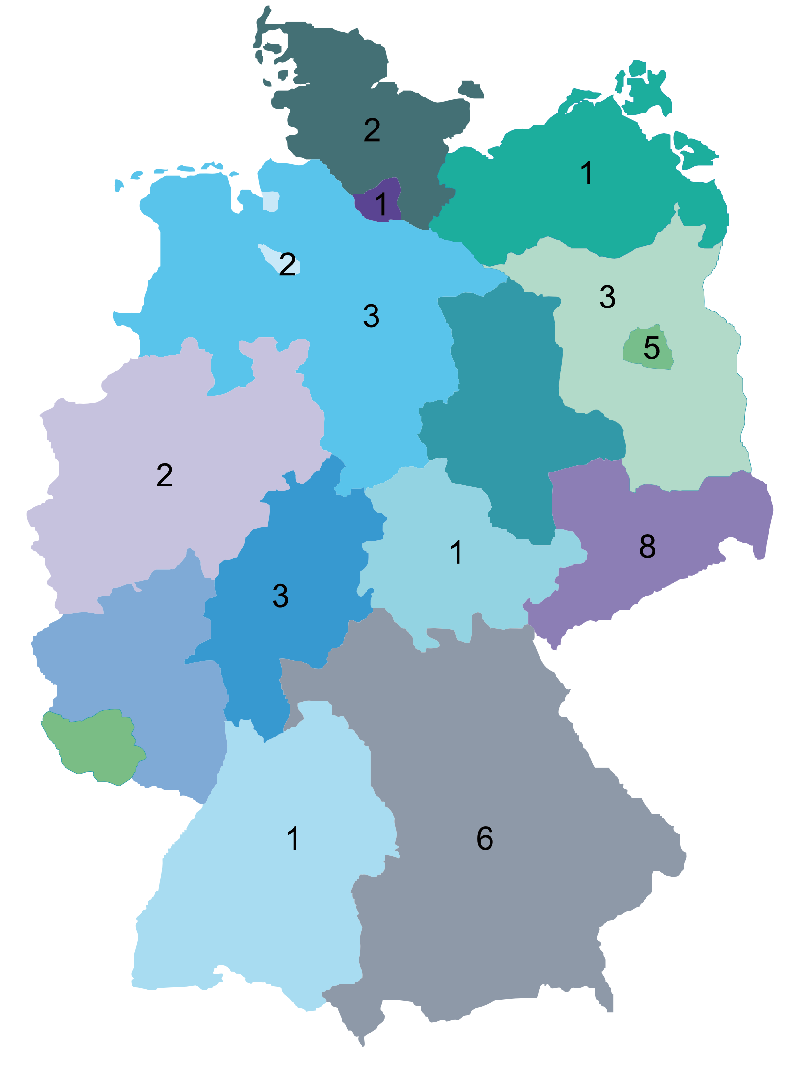 Pilots proposals for each state in Germany